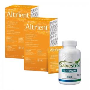 Salvestrol Platinum 2000 puncte (60 capsule) + 2 x Altrient C Vitamina C lipozomala (30 plicuri)
