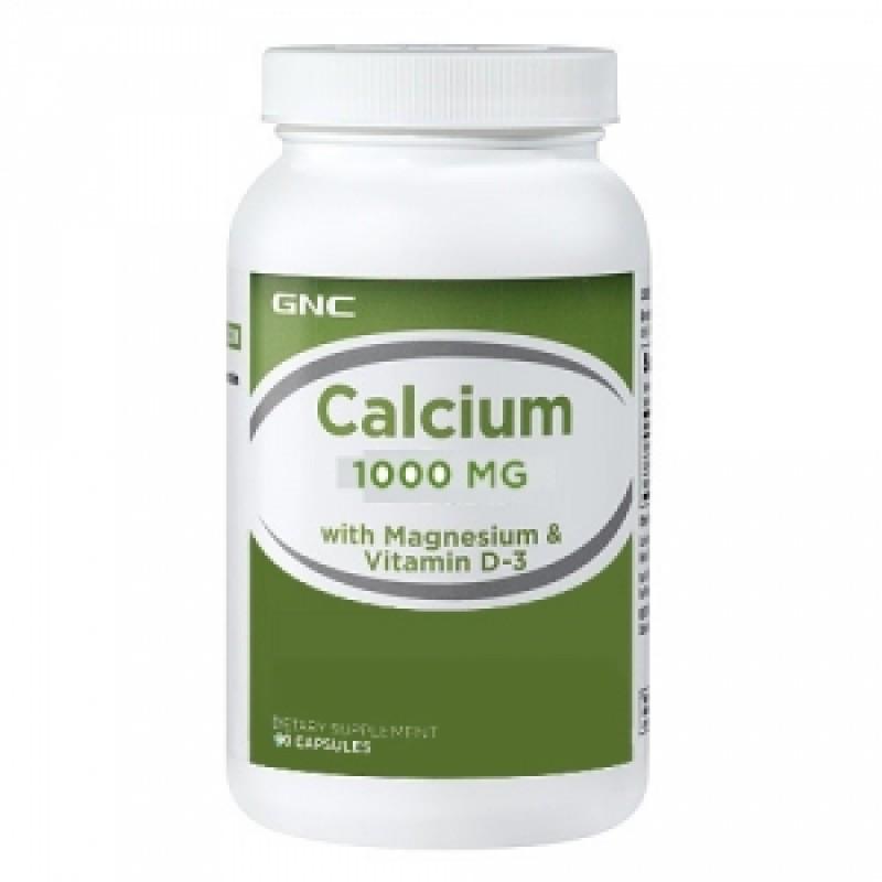 Calciu 1000 cu Magneziu si Vitamina D (90 tablete), GNC