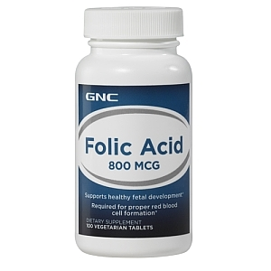 Acid Folic 800 MCG (100 tablete), GNC