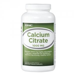 Citrat de Calciu 1000 mg (180 capsule), GNC
