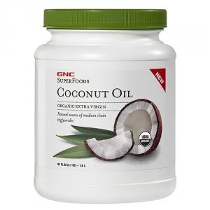 Organic Coconut Oil Extravirgin Presat la rece (1.6 litri), GNC