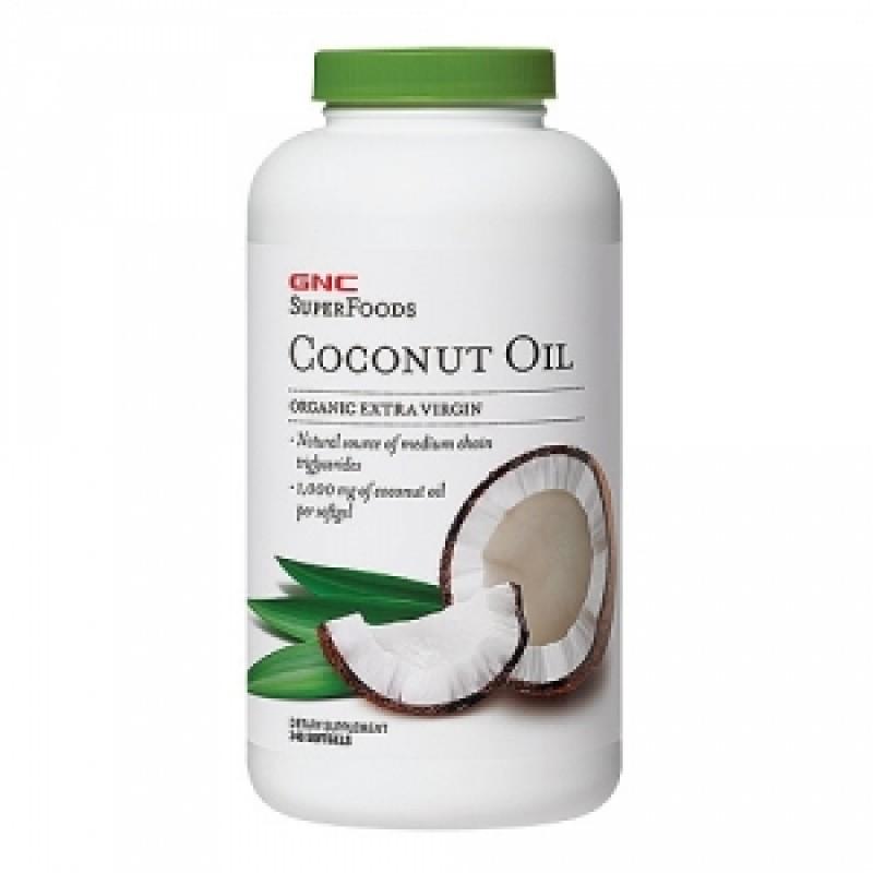 Ulei de cocos extravirgin 1000 mg (240 capsule), GNC