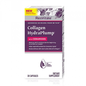 Collagen hydraplump cu Ceramide (30 capsule), GNC
