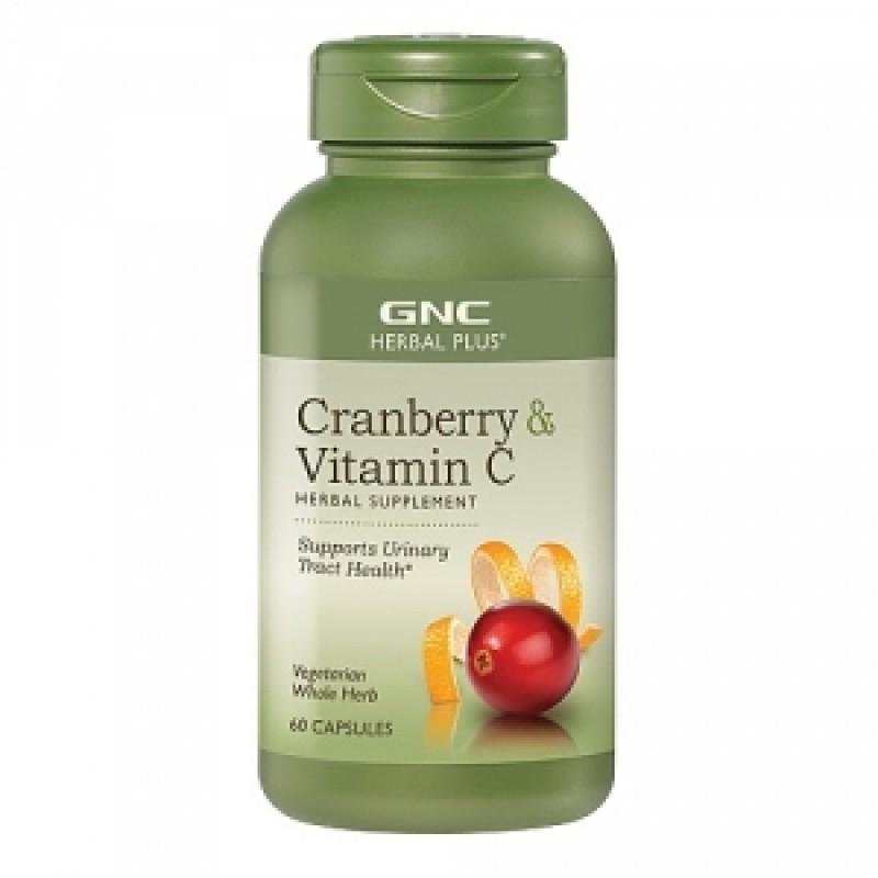 Cranberry + Vitamina C (60 capsule vegetale), GNC