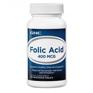 Acid folic, 400 mcg (100 capsule), GNC