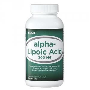 Acid alfa lipoic 300 mg (60 capsule), GNC