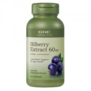Extract standardizat din afine 60 mg (100 capsule), GNC HERBAL PLUS