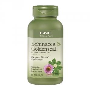 Extract standardizat de echinaceea si goldenseal (50 capsule), GNC HERBAL PLUS