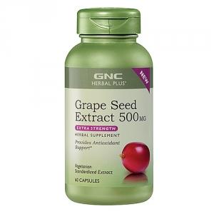 Extract standardizat din samburi de struguri 500 mg (60 capsule), GNC Herbal Plus