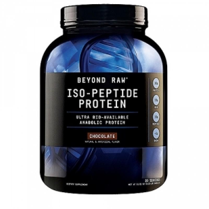 Iso-Peptide Proteina cu aroma de ciocolata (1463.1 grame), GNC BEYOND RAW