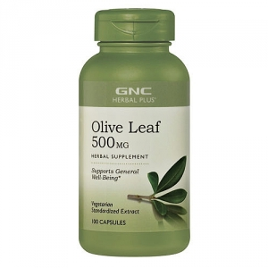 Extract standardizat din frunze de masline, 500 mg (100 capsule), GNC HERBAL PLUS