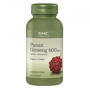 Extract standardizat de panax ginseng, 600 mg (100 capsule), GNC HERBAL PLUS