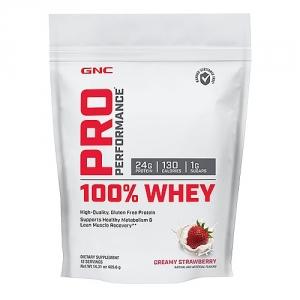 100% Proteina din zer cu aroma de capsuni (405.6 grame), GNC PRO PERFORMANCE