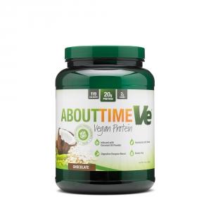 About Time Ve Vegan protein cu aroma de ciocolata (908 grame), GNC
