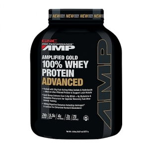 AMP Amplified Gold Proteina din zer advanced cu aroma de ciocolata (2325 grame), GNC PRO PERFORMANCE