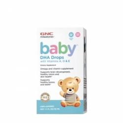 DHA Picaturi bebelusi cu vitamina A, D si E (60 mililitri), GNC MILESTONES BABY