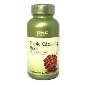 Ginseng gold radacina, Trei tipuri de ginseng (90 capsule), GNC