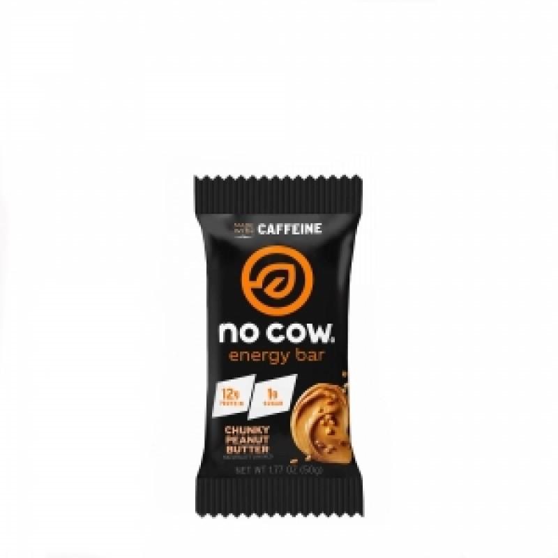 NO COW ENERGY Baton proteic energizant cu aroma de unt de arahide (50 grame), GNC