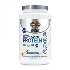 GARDEN OF LIFE Sport Proteina vegetala organica cu aroma de vanilie (806 grame), GNC