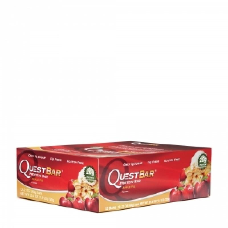 QUEST PROTEIN Baton proteic cu aroma de placinta de mere (60 grame), GNC