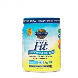 GARDEN OF LIFE Proteina raw organica vegetala fit cu aroma de vanilie (457 grame), GNC