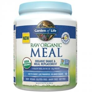 GARDEN OF LIFE Proteina raw organica vegetala cu aroma de vanilie (484 grame), GNC