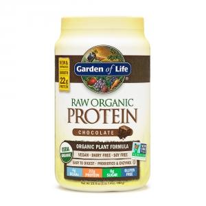 GARDEN OF LIFE Proteina raw organica vegetala cu aroma de ciocolata (664 grame), GNC