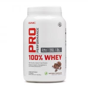 100% Proteina din zer cu aroma naturala de ciocolata (1184.5 grame), GNC PRO PERFORMANCE