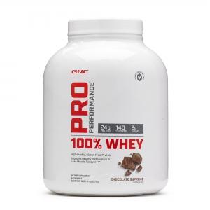 100% Proteina din zer cu aroma de ciocolata (2272 grame), GNC PRO PERFORMANCE