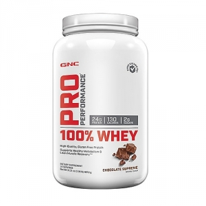 100% Proteina din zer cu aroma de ciocolata (887.5 grame), GNC PRO PERFORMANCE