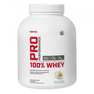 100% Proteina din zer cu aroma de vanilie (2176 grame), GNC PRO PERFORMANCE