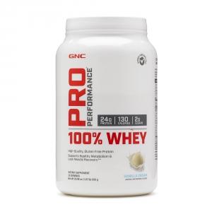 100% Proteina din zer cu aroma de vanilie (850 grame), GNC PRO PERFORMANCE