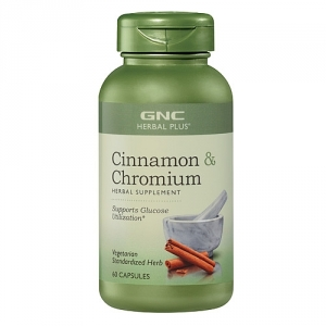 Extract standardizat de scortisoara plus crom (60 capsule), GNC Herbal Plus