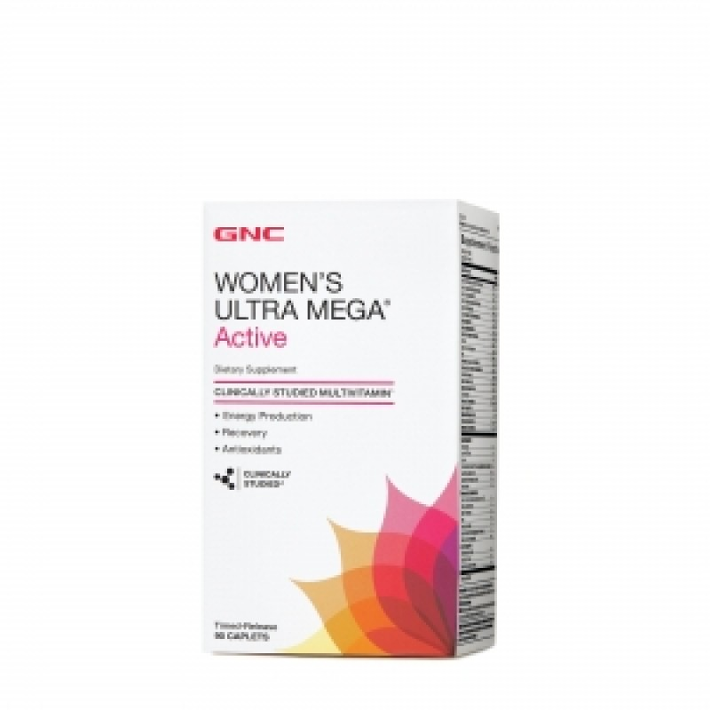 Women's ultra mega active Multivitamine si minerale pentru femei (90 capsule), GNC