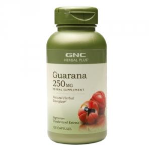 Extract standardizat din seminte de guarana (100 capsule), GNC
