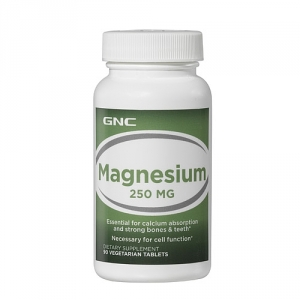 Magneziu 250 mg (90 tablete), GNC