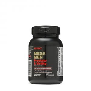 Mega Men Prostate & Virility (90 tablete cu eliberare prelungita), GNC