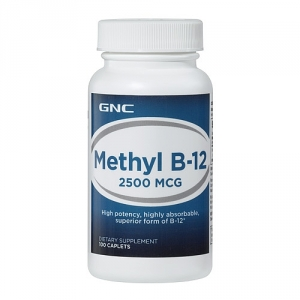 Methyl B-12 2500 mcg (100 capsule), GNC