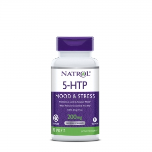 5-HTP Natrol Time Release 200 mg (30 tablete), GNC