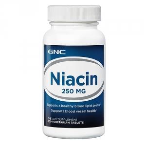 Niacin 250 mg (100 tablete), GNC