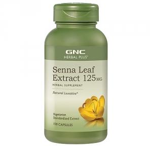 Extract standardizat din frunze de senna (100 capsule), GNC