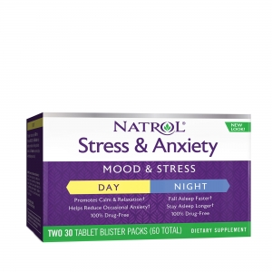 Stress Anxiety Day and Nite (30 blistere x 2 tablete), Natrol