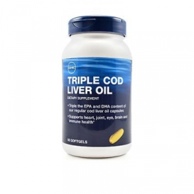 Triple Cod Liver Oil (90 capsule), GNC