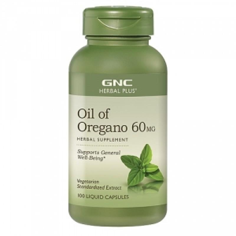Ulei de oregano extract standardizat 60 mg (100 capsule), GNC