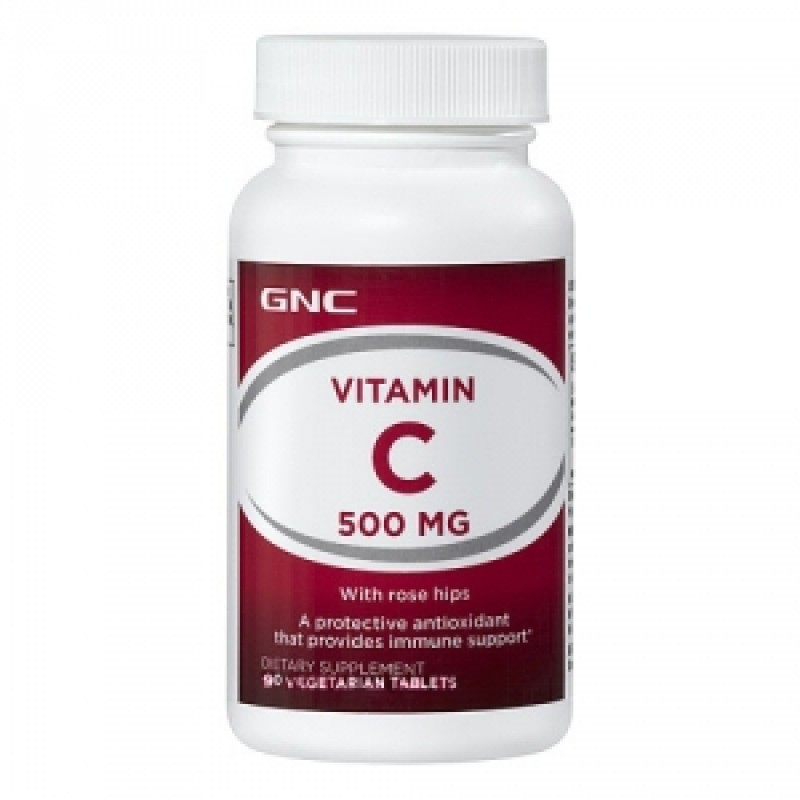 Vitamina C 500 mg Timed released (90 tablete), GNC