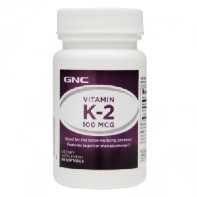 Vitamina K-2 100 MCG (60 capsule gelatinoase), GNC