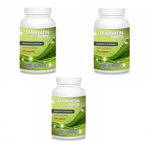 Diabivatin Forte (150 capsule), Medicinas PACHET 3 LUNI (3 flacoane)