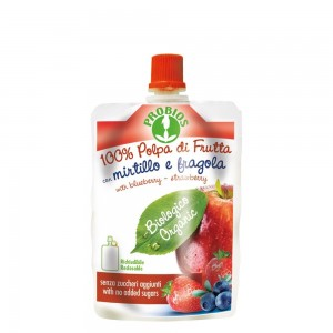 Piure de fructe fara zahar - mere, afine, capsuni (100g), Probios