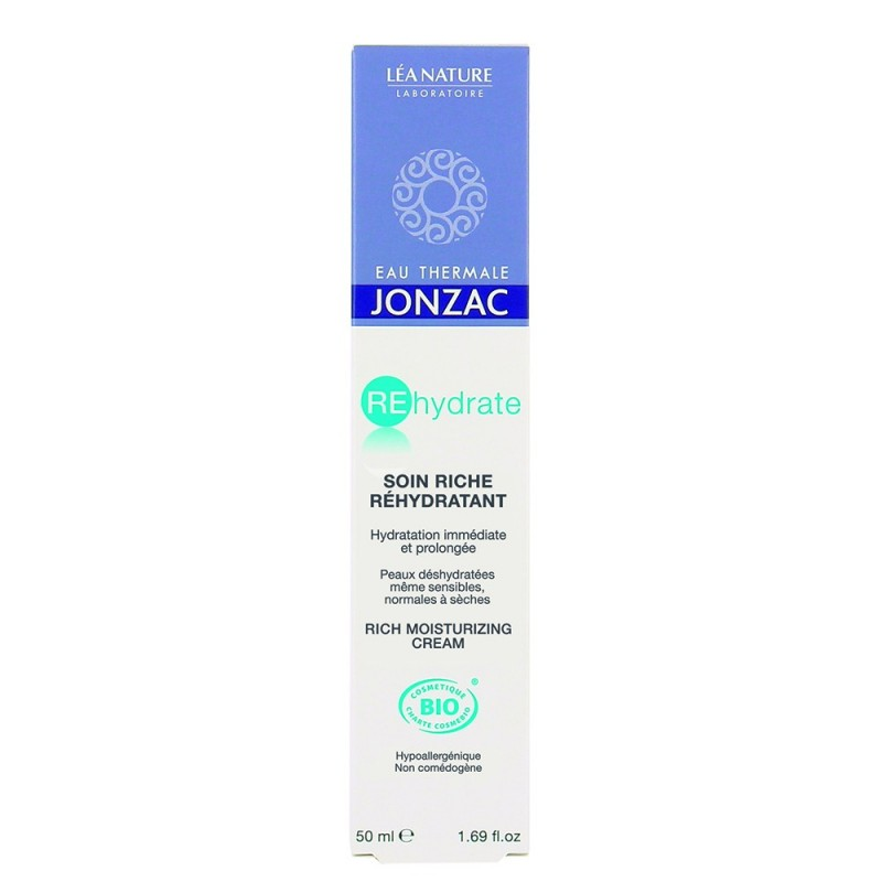 Rehydrate - Crema hidratanta ten normal-uscat (50ml), Jonzac