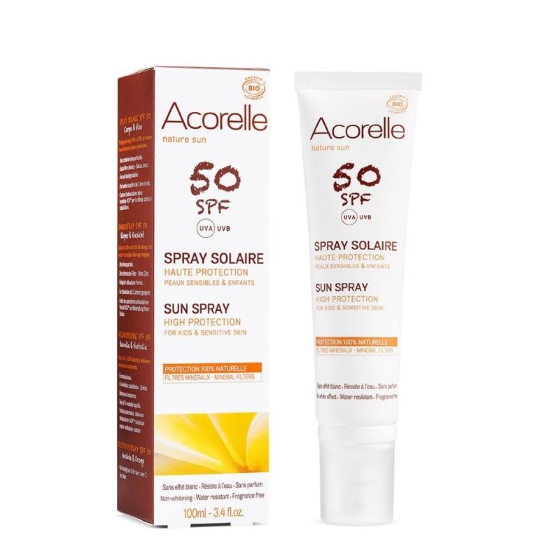 Spray protectie solara SPF 50 (100ml), Acorelle